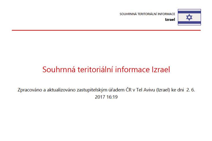 teritoriální informace izrael